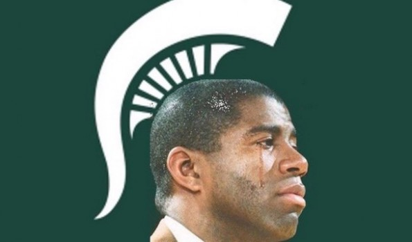 Michigan State Magic Johnson Crying