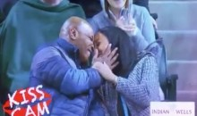 Affectionate Mike Tyson Caught on Indian Wells Kiss Cam (Video)