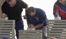 Ned Yost Breaks a Stack of Bricks With His Bare Hands (Video)