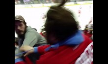 Painfully Hilarious Fight Breaks Out in the Stands at Wings-Jackets Game (Video)