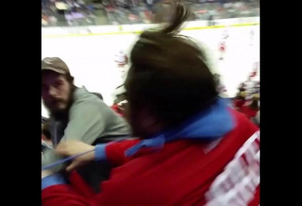 Red Wings-Blue Jackets Fan Fight