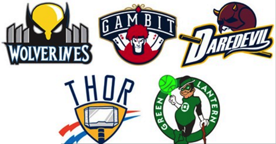 NBA Logos as Superheroes Is The Most Awesome Logo Redesign Yet (Gallery) | Total Pro Sports