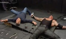 Shane McMahon Destroys Announcers' Table With Crazy Elbow-Drop on The Undertaker (Video)