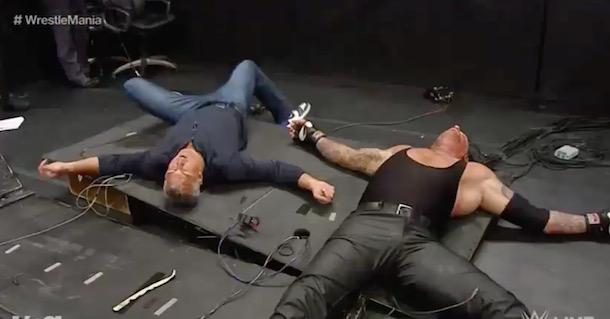 Shane McMahon Elbow Drop Undertaker