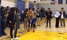 Steph Curry Shows Off His Range…With a Putter…On a Basketball Court (Video)