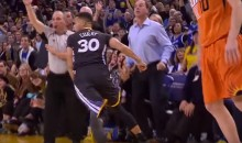 Steph Curry Hits Another 3-Pointer While Walking Away (Video)