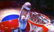 Steve Ballmer Throws Down a Trampoline Dunk (Video)