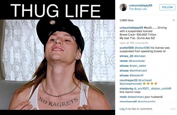 Terrell Suggs Thug Life