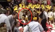 Angry VCU Cheerleader Stomps on A10 Championship Balloons After Loss to St. Joe's (Video)
