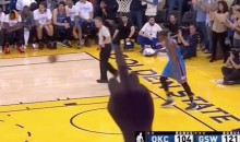 Floating Hand Flips the Bird at Camera During Thunder-Warriors Game (Video)