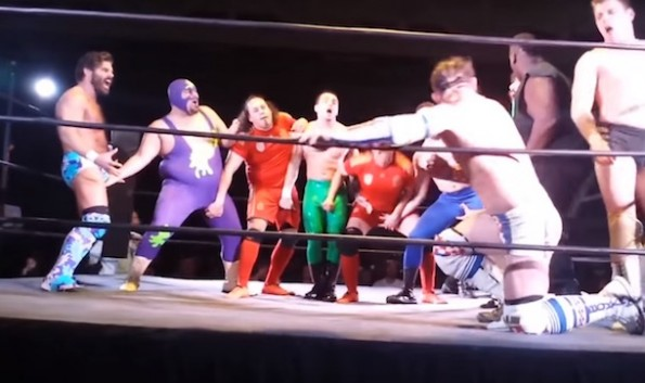 Wrestling Penis Maneuver