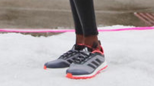 adidas running shoes photo shoot downtown chicago threatened