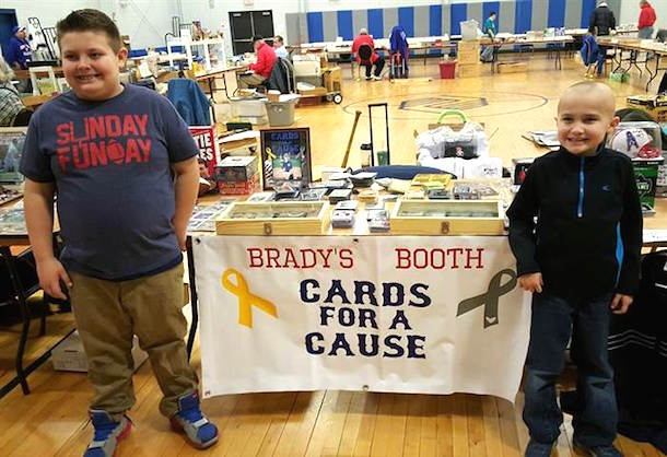 brady kahle cards for a cause kid sells baseball card collection