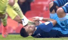 American Forward Clint Dempsey Takes Cleat to Face During Seattle Sounders' CONCACAF Champions League Loss (GIFs)