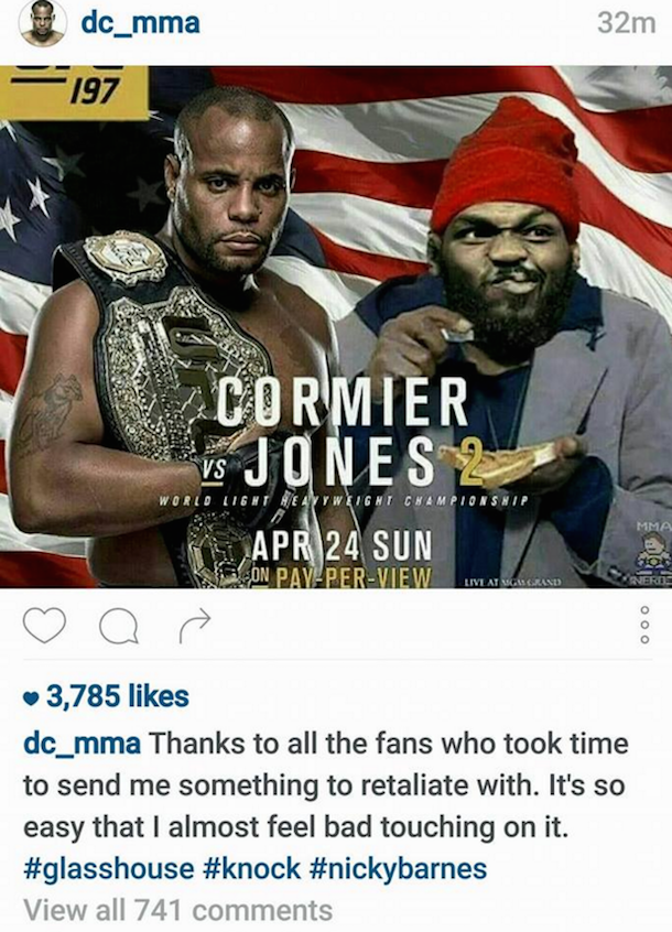 daniel cormier instagram post