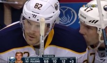 Sabres' David Legwand Wipes His Nose on Teammate's Shoulder (Video)