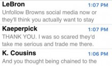 RGIII's Phone Has Been Blowing Up Since Deciding to Sign With The Cleveland Browns