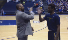 Whitman College Coach Stephen Garnett Has An Impressive Pregame Ritual (Video)
