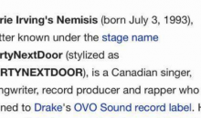 Canadian Rapper Who Took Kyrie Irving's GF Gets A Wikipedia Update