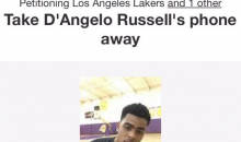 Los Angeles Lakers Fan Creates Petition To Take D'Angelo Russell's Phone