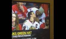Male Hockey Fan Kisses GF In Stands, Proceeds To Kiss BF As Well (Video)