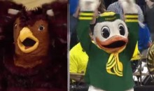 The Oregon Duck Mimics the St. Joe's Hawk Like a Pro (Video)