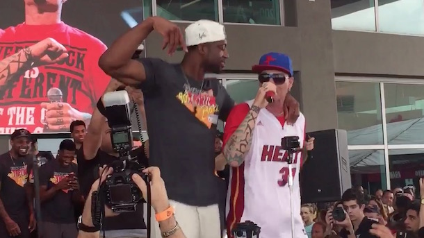 dwayne wade dancing with vanilla ice