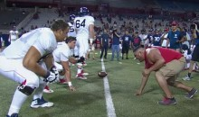 Arizona Wildcats Football Team Allowed Fans to Take Part in Some Practice Drills (Video)