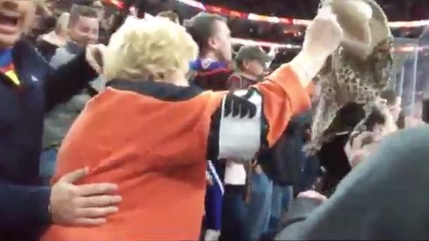 flyers grandma throws bra bernie parent handjob
