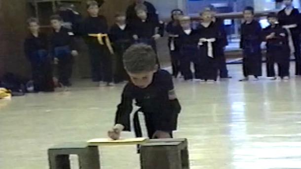 karate kid breaks board delayed reaction to pain