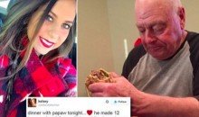 Oklahoma Softball Player Posts Pic of Her Grandpa Eating a Burger, Internet Goes NUTS!!!