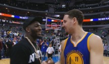 Klay Thompson Drops Post-Game Interview To Meet Dez Bryant After Win (Video)