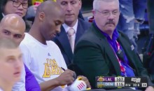 Kobe Bryant Gives Some Lucky Kid a Signed Pair of His Shoes (Video)