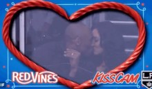 Kobe Bryant and Wife Vanessa Get Caught on Kings Kiss Cam (Video)