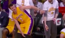 Larry Nance Jr. Has Fun with Jordan Clarkson Breaking the Ankles of Evan Fournier (Video)