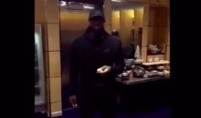 LeBron (Hilariously) Mocks the Media's Scrutiny While Eating a Banana (Video)