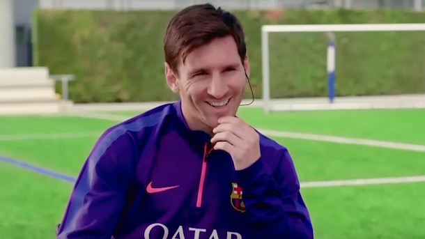 lionel messi donates cleats for charity auction during