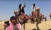 Here's Marshawn Lynch Riding a Camel and Rapping, Just Because (Video)
