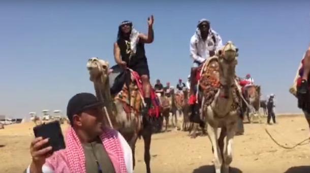 marshawn lynch riding a camel