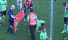 These Israeli Soccer Medics Don't Know How Stretcher Works, Drop Player (Video)