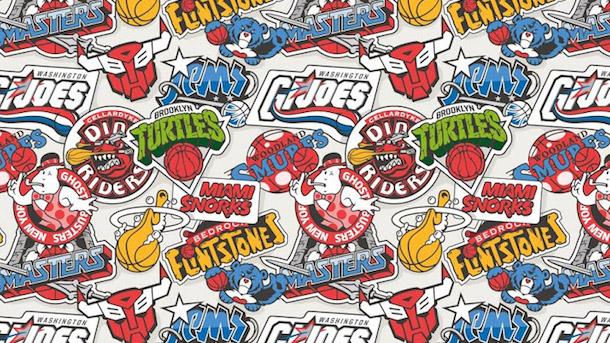 nba logos at 80s cartoons nba logo mashup