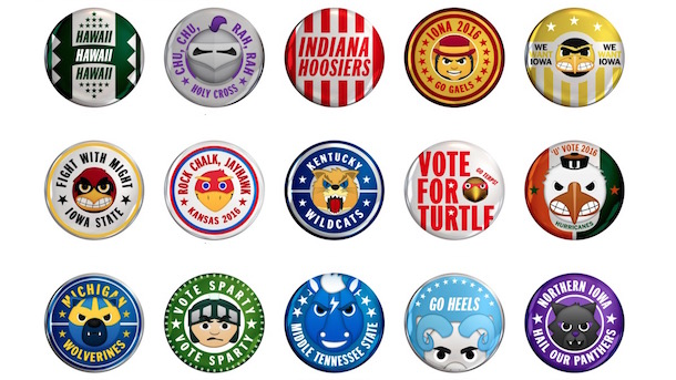ncaa tournament campaign buttons march madness campaign buttons