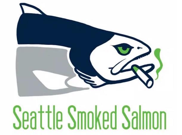 nfl logos as food seahawks