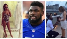 After Impregnating 3 Girls At The Same Time, Giants' Landon Collins Gets Engaged To A 4th Girl
