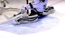 Ridiculous Jonathan Quick Stick Save Robs Logan Couture (Video)