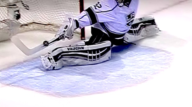 ridiculous jonathan quick stick save robs logan couture