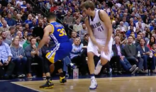 Steph Curry Makes Dirk Look Silly, Banks In A Corner 3 (Video)