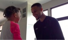 Steph Curry Gets a Song from Riley for his 28th Birthday (Video)