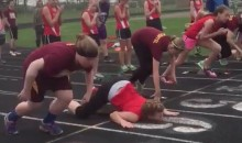 Track Fail: Girl Gets Startled by Starters Pistol, Does Epic Faceplant (Video)