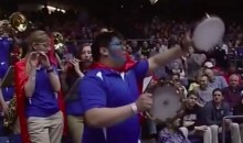 Tulsa's Tambourine-Playing Band Member Is the Early Tourney MVP (Video)